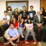 Mejores puntajes del Campus Creativo fueron recibidos por autoridades de la UNAB