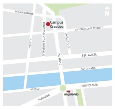 Mapa Campus Creativo Ernesto Pinto Lagarrigue 230