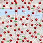 Mapa detalla los bombardeos recibidos en Inglaterra a mano de los Nazi