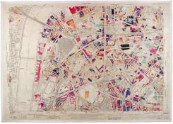 Mapa bombardeos en Inglaterra a mano de los Nazi