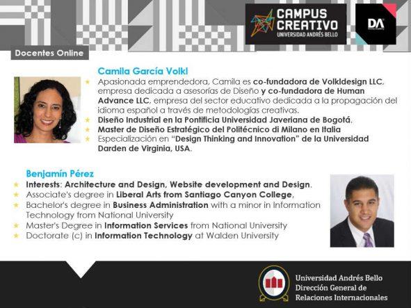 Docentes Online Camila García - Benjamín Pérez