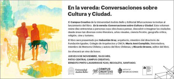 Invitación conversaciones sobre cultura y ciudad