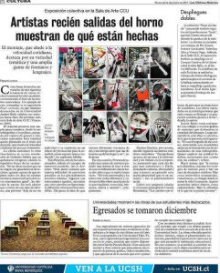Diario: Exposición alumnos Artes Visuales Pasar Corriendo