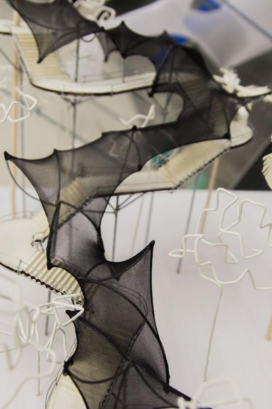 Trabajo estructura en tela taller de arquitectura