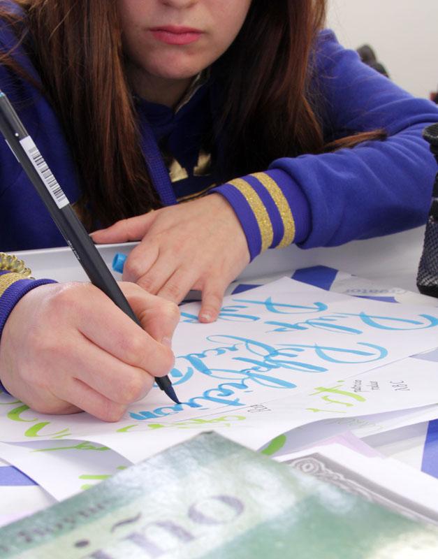 taller de lettering diseño gráfico